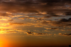 Dawn. Clouds. Royalty Free Stock Image
