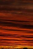Dawn. Clouds. Stock Photo