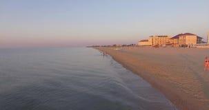 Dawn on the beach. stock footage