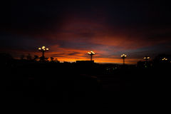 Dawn. The dawn of dalat city Stock Photography