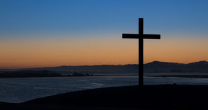 Dawn Dark Cross Stock Photo