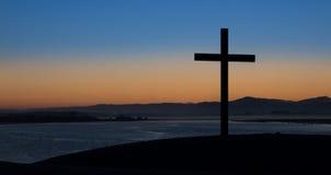 Dawn Dark Cross stock photo