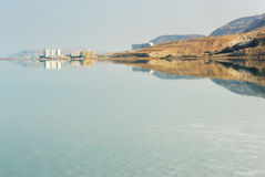 Dawn on the Dead Sea royalty free stock photos