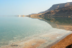 Dawn on the Dead Sea Stock Photography