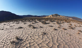 Dawn in Death Valley Rhotograph Fisheye lens Stock Photos