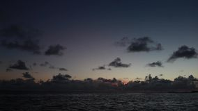 Dawn in the Dominican Republic on the beach stock video footage