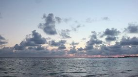 Dawn in the Dominican Republic on the beach stock footage