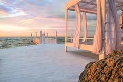 Dawn door het overzees stock fotografie