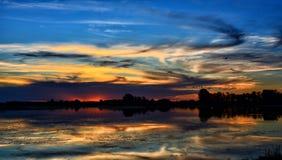 Dawn, Dusk, Lake Royalty Free Stock Images