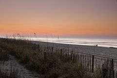 Dawn. Early Dawn at Mrytle Beach Stock Image