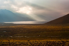 Dawn in the Ecuadorian Andes. Lagoons Ozogoche Royalty Free Stock Images