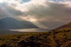Dawn in the Ecuadorian Andes. Lagoons Ozogoche Stock Image