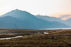 Dawn in the Ecuadorian Andes. Lagoons Ozogoche Royalty Free Stock Image