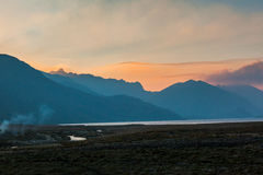 Dawn in the Ecuadorian Andes. Lagoons Ozogoche Royalty Free Stock Photography