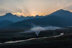 Dawn in the Ecuadorian Andes Royalty Free Stock Photos