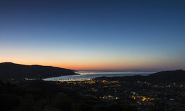 The dawn on the Elba island Stock Images