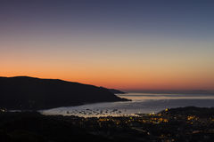 The dawn on the Elba island (Tuscany, Italy) Royalty Free Stock Photos