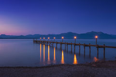 Dawn on famous lake Chiemsee Royalty Free Stock Photo