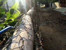 A dawn in the fence Stock Photography
