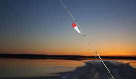 Dawn fishing Stock Images