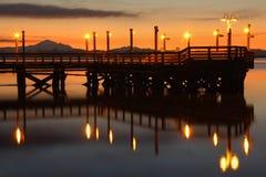 Dawn Fishing Pier, ποταμός Fraser Στοκ Εικόνες
