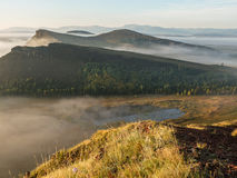Dawn in the foothills of the Khakassia Republic Stock Photos