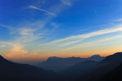 Dawn in the French Alps Stock Photos