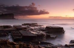 Dawn gloed in Avalon royalty-vrije stock foto's