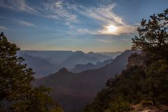 Dawn Grand Canyon fotografering för bildbyråer