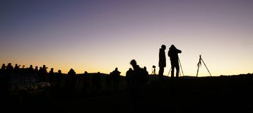 The dawn of the grassland Stock Photos