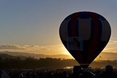 Dawn at the Great Reno Balloon Race Royalty Free Stock Image