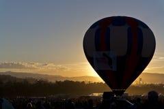 Dawn at the Great Reno Balloon Race Royalty Free Stock Image