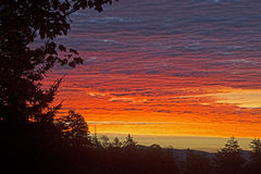 Dawn in the Great Smoky Mountains. Royalty Free Stock Image