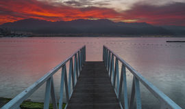 Before dawn at the gulf of Eilat Royalty Free Stock Photos