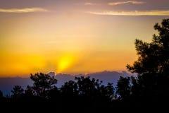 Dawn heeft aan Autumn Skies wekken royalty-vrije stock foto