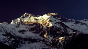 Dawn in the Himalayan mountains. stock footage