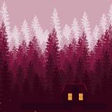 Dawn House nas madeiras Fotos de Stock Royalty Free