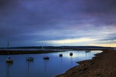 Dawn at Hurst Castle Stock Photo