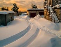 dawn industrial Μόσχα Ρωσία στοκ εικόνες