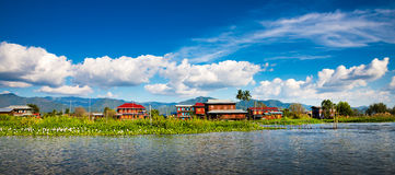 Dawn on Inle Lake royalty free stock images