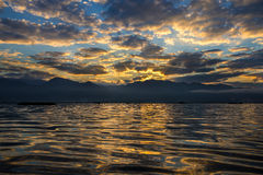 Dawn on Inle Royalty Free Stock Images