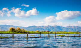 Dawn on Inle Lake Royalty Free Stock Photography