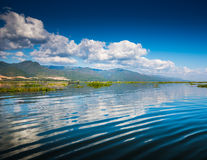 Dawn on Inle Lake Stock Photography