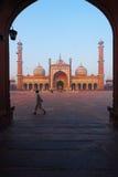 Dawn Jama Masjid Main Mosque Delhi Framed Stock Image