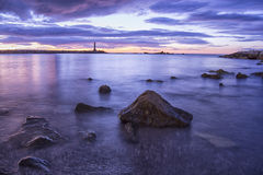 The dawn of the jetties Stock Image