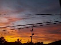 Dawn in Juarez-Stad royalty-vrije stock afbeeldingen