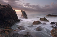 Dawn kleuren bij de Haven Macquarie van het Vuurtorenstrand Royalty-vrije Stock Afbeelding