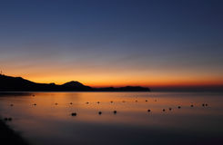 Dawn in Koktebel Royalty Free Stock Photography