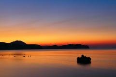 Dawn in Koktebel Stock Images