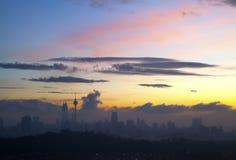 Dawn in Kuala Lumpur Royalty Free Stock Image